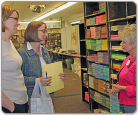 Customers learn more about the Teacher Materials Center
