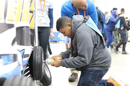Student explores a potential career at MiCareerQuest Southwest.