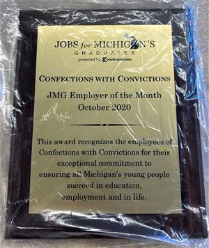Employer of the Month award plaque