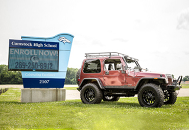 EFE Automotive Technology Students' Modified Jeep Wrangler