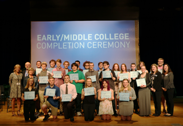 Early/Middle College Students Celebrate at Completion Ceremony