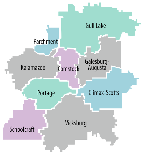Map of local school districts
