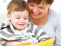 Reading with toddler