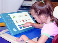 Special Ed Student using assistive technology device